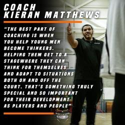 Coach Kieran Matthews